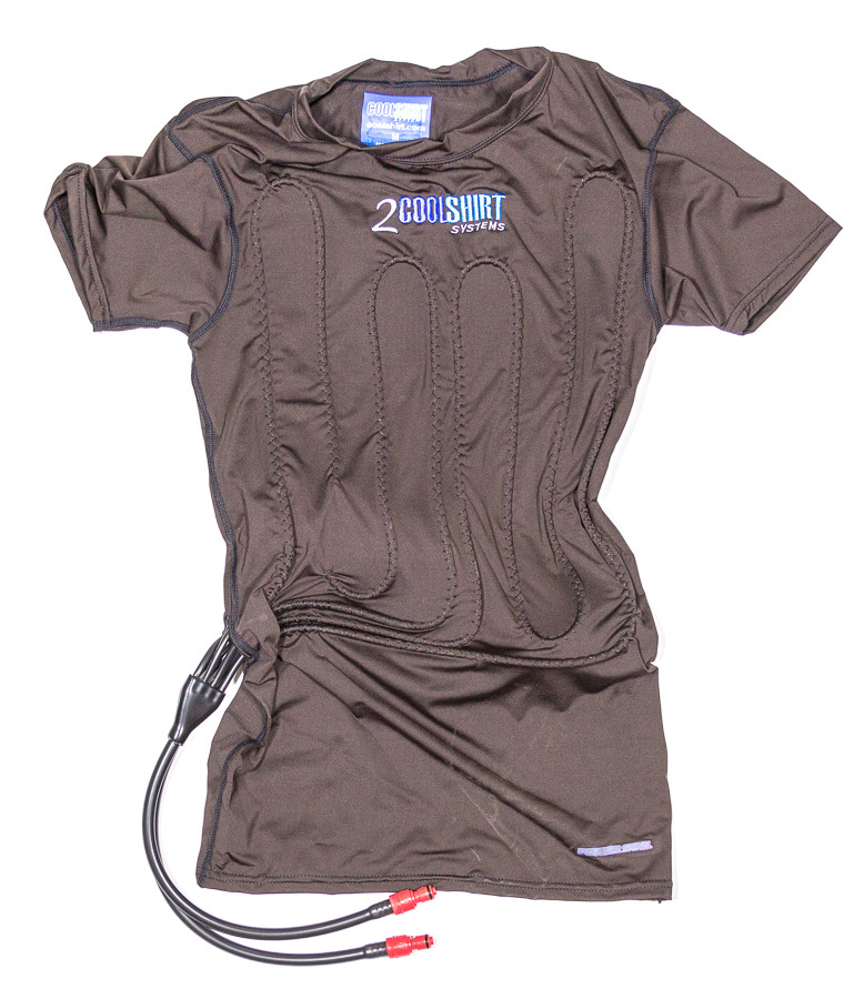 Cool Shirt 1021-2042 Cooling Shirt, 2 CoolShirt, Kink Free Water Tubing, Moisture Wicking Cotton, Compression Style, Short Sleeve, Black, Large, Each