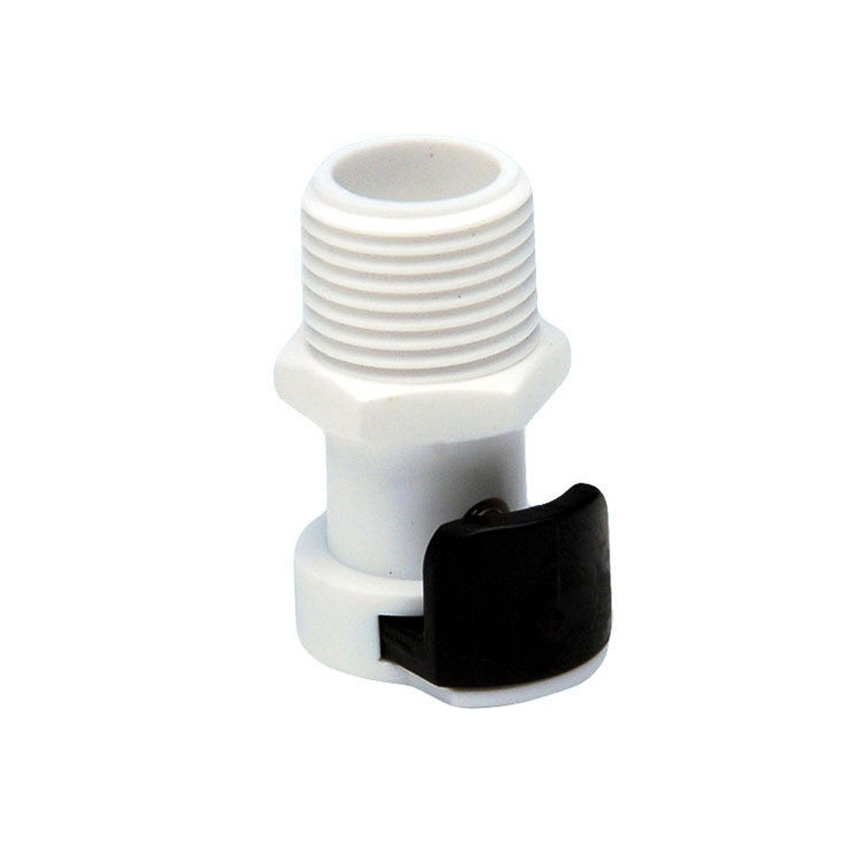 Cool Shirt 5014-0010 Fitting, Quick Disconnect, 3/8 in NPT Male, Plastic, White, Each