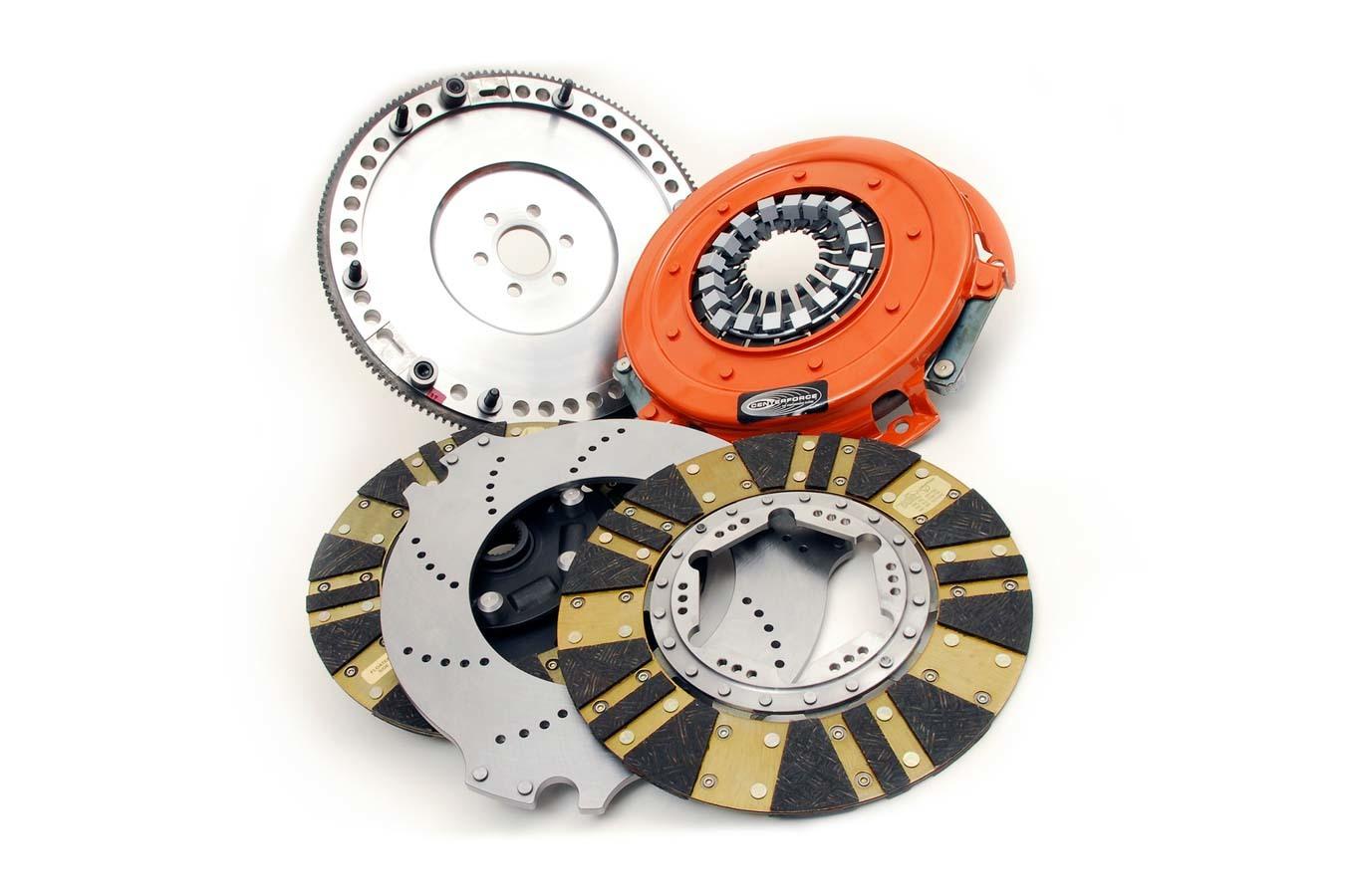 Centerforce 04115728 Clutch Kit, DYAD, Twin Disc, 10-1/2 in Diameter, 1-1/8 in x 26 Spline, Sprung Hub, Flywheel, Organic, Ford, Kit