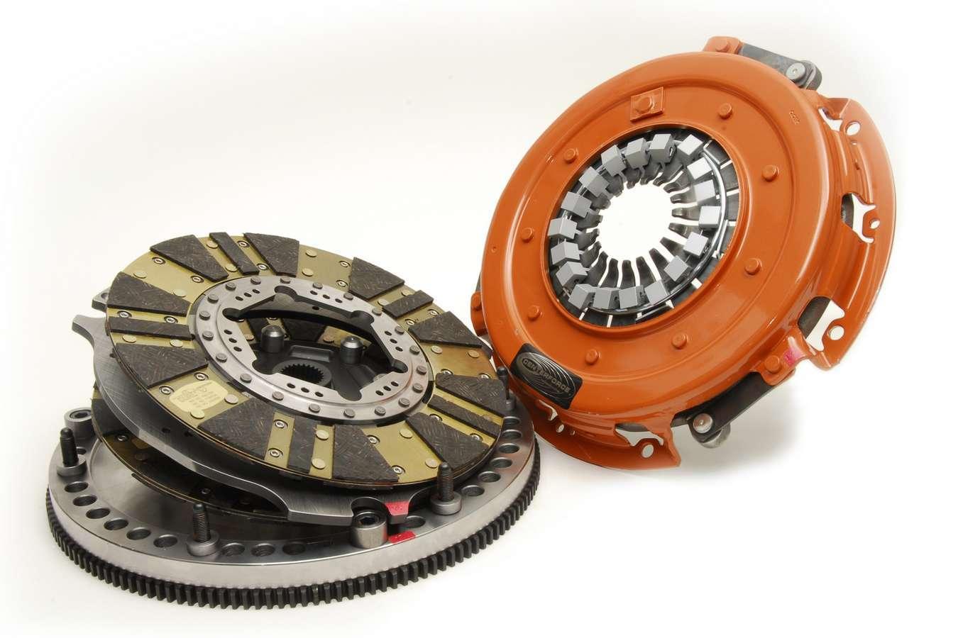 Centerforce 04614800 Clutch Kit, DYAD, Twin Disc, 10-1/2 in Diameter, 1-1/8 in x 26 Spline, Sprung Hub, Flywheel, Organic, 2 Piece Seal, GM V8, Kit