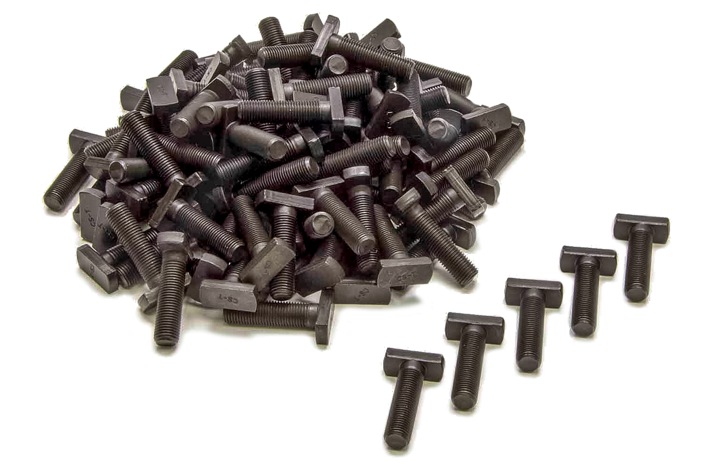 Currie Enterprises CE-2012TH T-Bolt, 3/8-24 in Thread, Steel, Black Oxide, Backing Plate, Ford 9 in, Set of 100