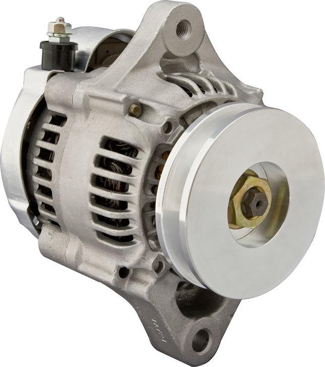 CVR Performance 2180 Alternator, Denso Race, 50 amp, 12V, 1-Wire, Single V-Belt Pulley, Natural, Universal, Each