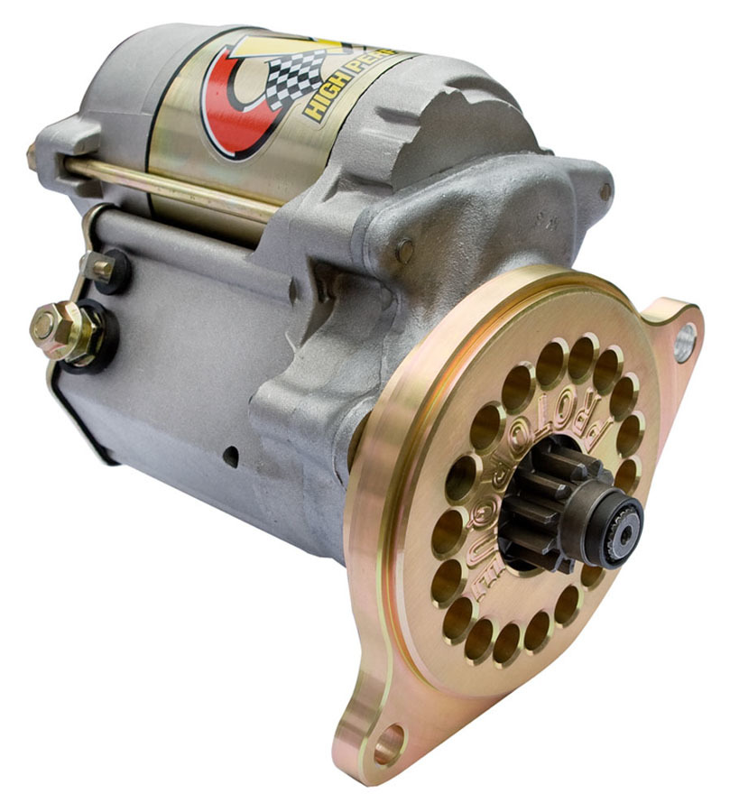 CVR Performance 5055 Starter, Protorque, 18 Position Mounting Block, 4:1 Gear Reduction, Natural, Small Block Ford, Each