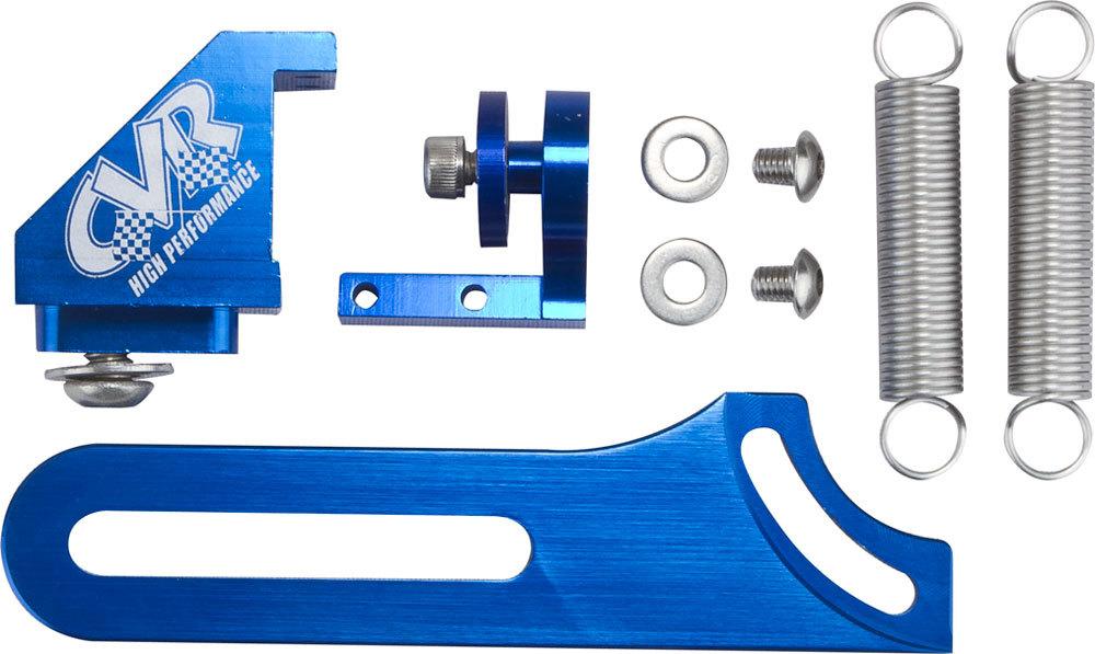 CVR Performance 64501BL Throttle Return Spring Kit, Throttle Bracket Mount, Dual Springs, Aluminum, Blue Anodized, CVR Throttle Brackets, Dominator Flange, Kit