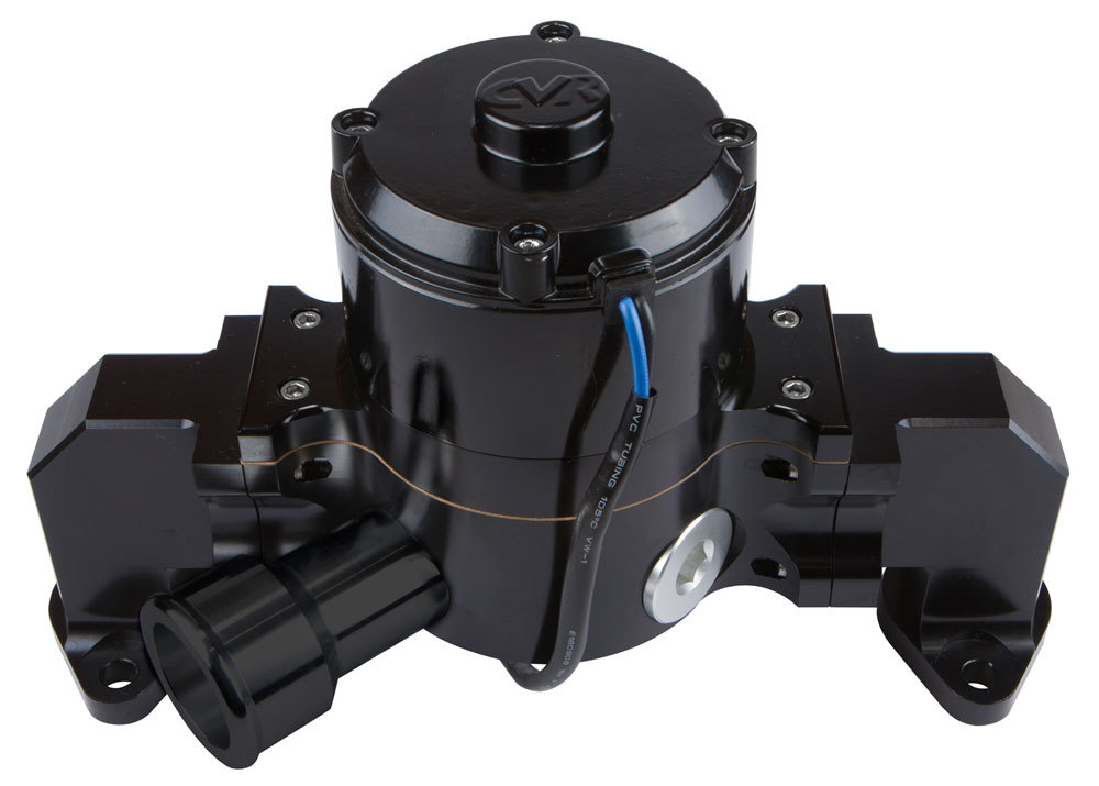 CVR Performance 8554BK Water Pump, Electric, 1-13/16 in Female O-Ring Inlet Port, 6.750 in Height, Aluminum, Black Anodized, Big Block Chevy, Kit