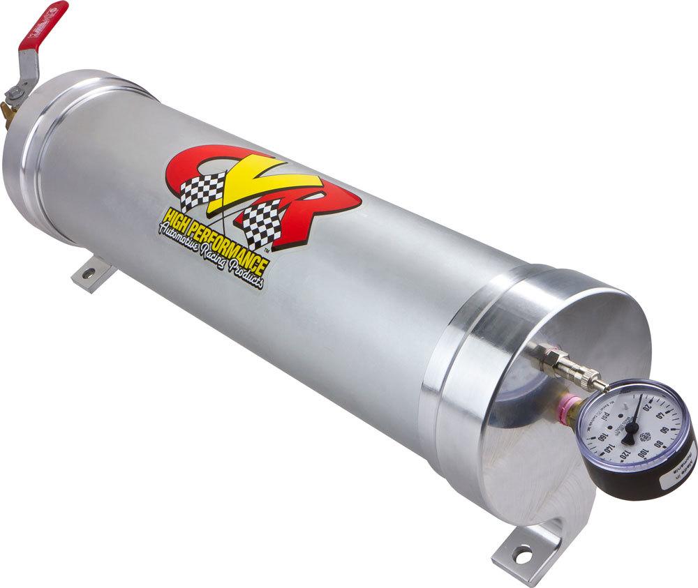 CVR Performance OAC91 Oil Accumulator, 3 qt Capacity, 4-5/8 in Diameter, 17-3/4 in Long, Aluminum, Clear Anodize, Each