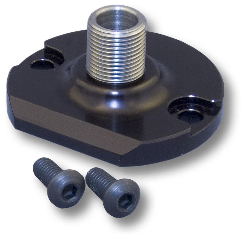 CVR Performance OFA65 Oil Filter Adapter, Bypass Eliminator, Billet Aluminum, Black Anodized, Chevy V8, Each
