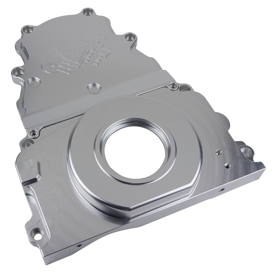 CVR Performance TC2327CL Timing Cover, 2 Piece, Aluminum, Clear Anodized, GM LS-Series, Kit