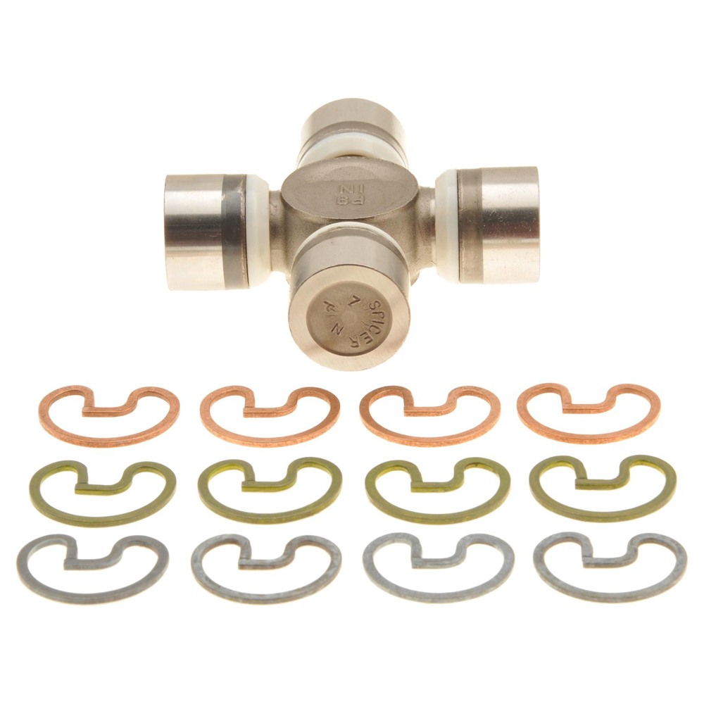 Dana-Spicer 5-1310-1X Universal Joint, 1310 to SPL 22 Series, 1.375 in Bearing Caps, Clips Included, Greasable, Steel, Natural, Each