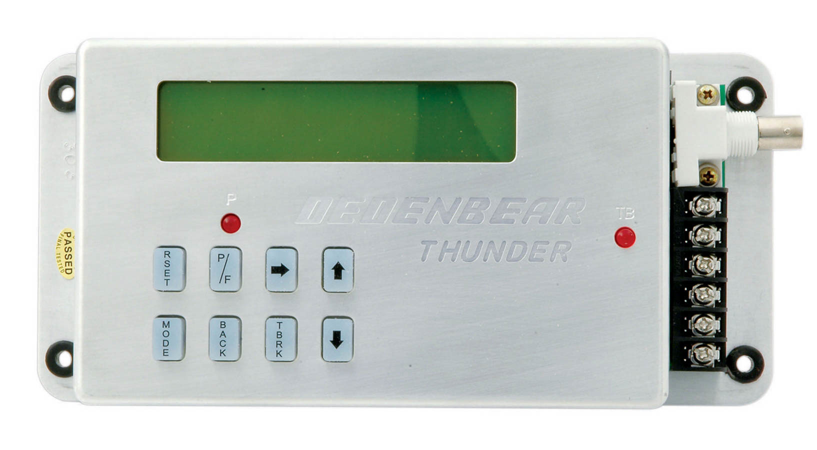 Dedenbear T1 Delay Box, Thunder, Digital, Illuminated, Crossover Delay, Steel, Silver, Each