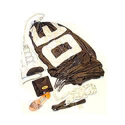 Deist Safety 27252BK Drag Parachute, Super Quad, 12 ft, Up to 180 MPH, Nylon Pack / Pilot Parachute, Black, Each