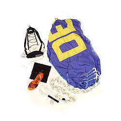 Deist Safety 27252BL Drag Parachute, Super Quad, 12 ft, Up to 180 MPH, Nylon Pack / Pilot Parachute, Blue, Each