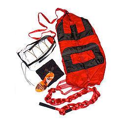 Deist Safety 27252RD Drag Parachute, Super Quad, 12 ft, Up to 180 MPH, Nylon Pack / Pilot Parachute, Red, Each