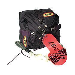 Deist Safety 30495BLACK Drag Parachute Pack, 9 in Square, Black, Each
