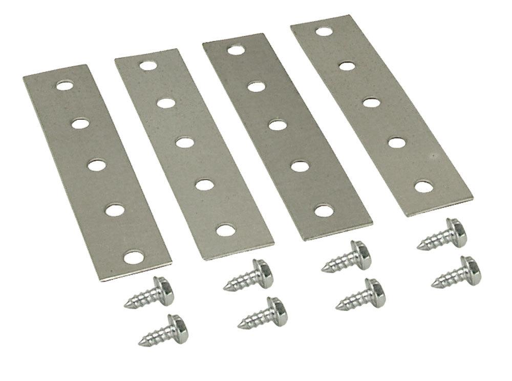 Derale 13002 Fluid Cooler Mount Kit, Straps / Screws, Bendable, Steel, Kit