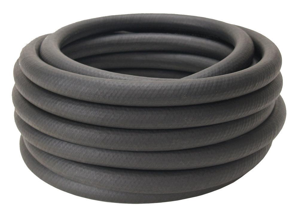 Derale 13017 Hose, Oil, Hi-Temp, 3/8 in ID, Rubber, Black, 25 ft, Each