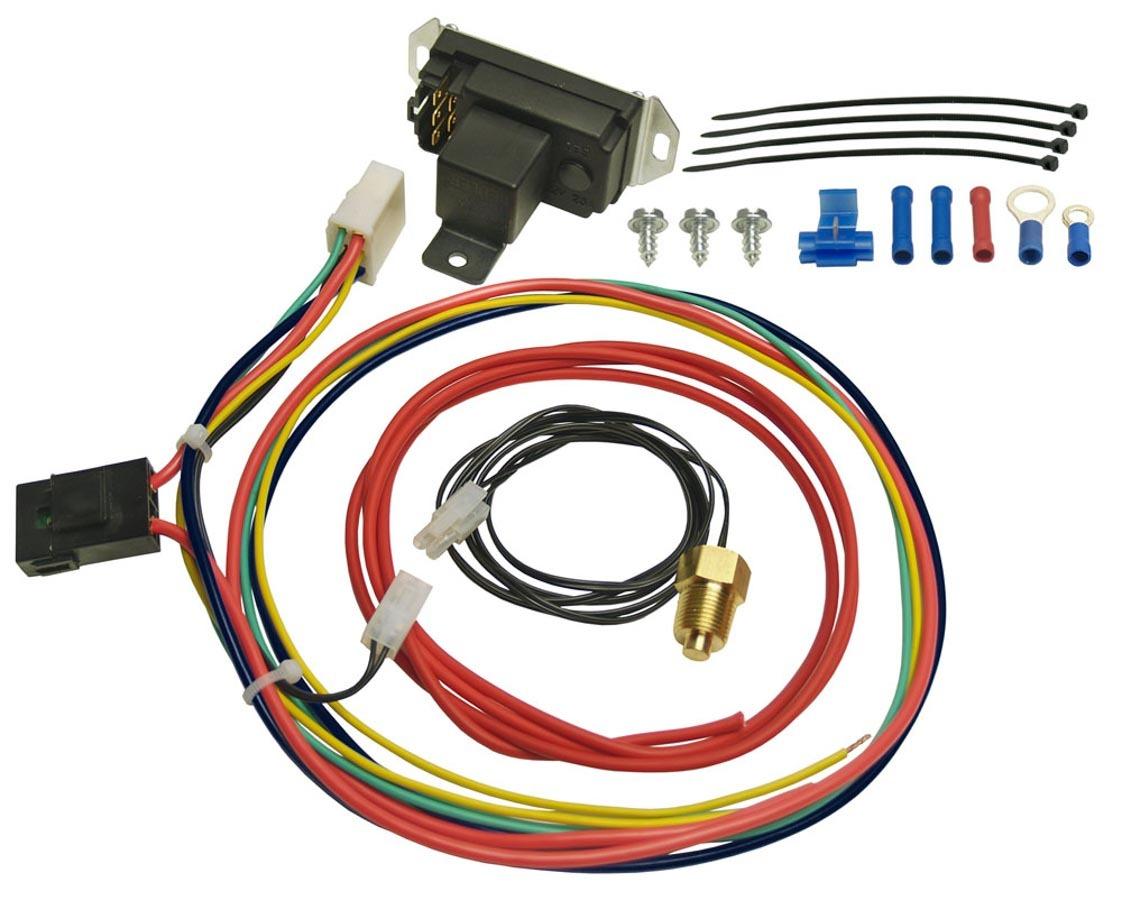 Derale 16749 Fan Controller, Adjustable, 150-240 Degree F Activation Range, 3/8 in NPT Temperature Sensor, Harness, 25 amp Relay, Kit