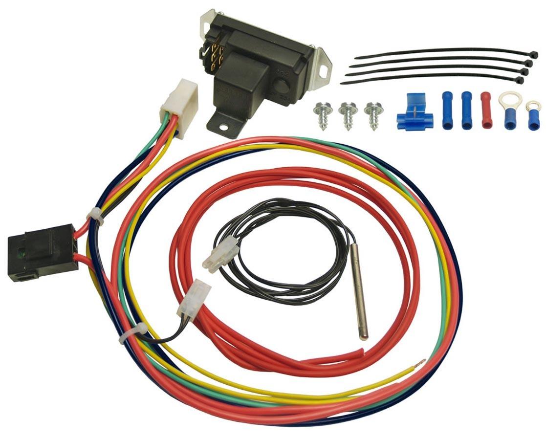 Derale 16759 Fan Controller, Adjustable, 150-240 Degree F Activation Range, Push-In Temperature Sensor, Harness, 25 amp Relay, Kit