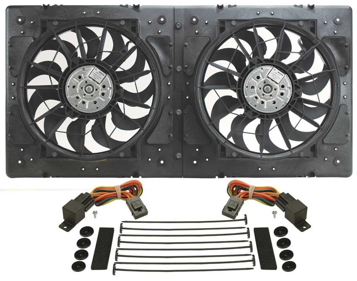 Derale 16934 Dual 13 In 4000 Cfm Ho Rad Electric Cooling Fan