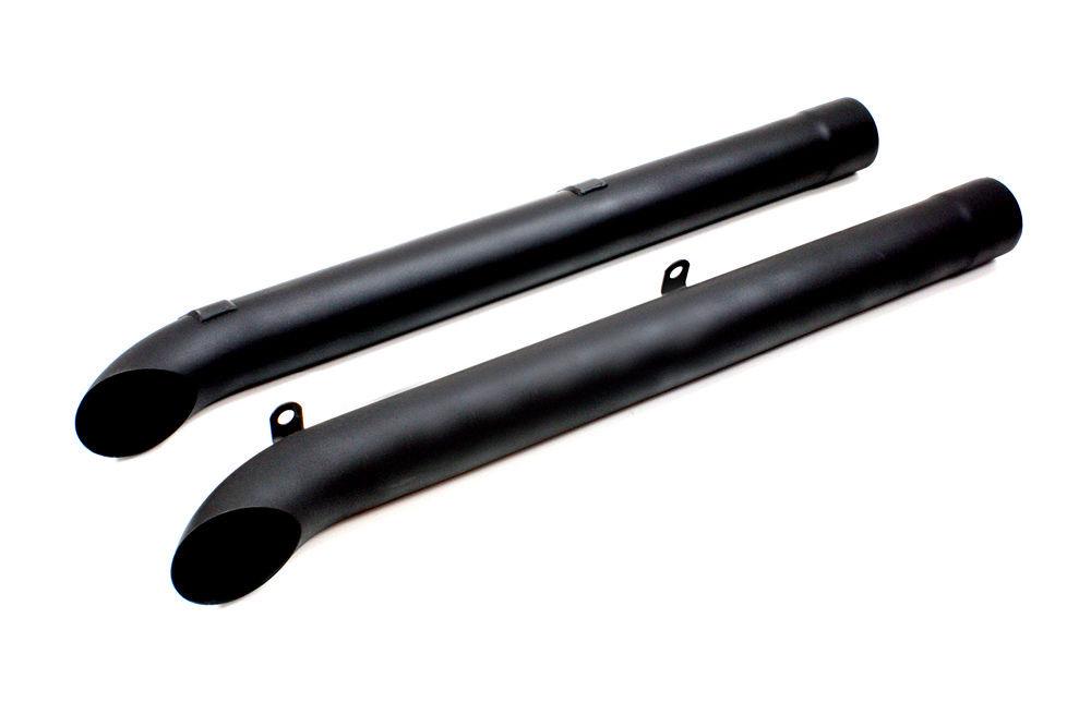 Dougs Headers D930-B Exhaust Side Pipes, Side Tube, 46 in Long, 4 in Inlet, 4 in Outlet, Steel, Black, Dougs Headers Corvette, Pair