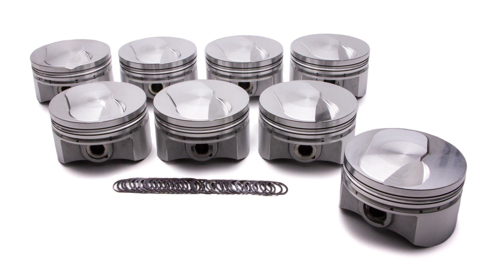 Diamond Racing Products 12713-8 Piston, Nitrous Dome, Forged, 4.600 in Bore, 0.043 x 1/16 x 3/16 in Ring Grooves, Plus 46.0 cc, Big Block Chevy, Set of 8