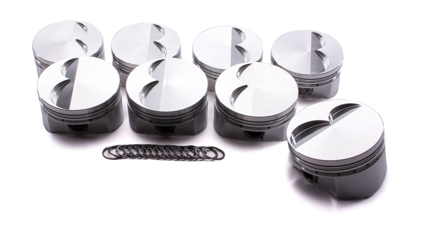 Diamond Racing Products 51013-8 Piston, Street / Strip Flat Top, Forged, 4.100 in Bore, 1/16 x 1/16 x 3/16 in Ring Grooves, Minus 6.8 cc, Small Block Mopar, Set of 8