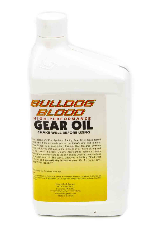 Diversified Machine BULLDOGQT Gear Oil, Bulldog Blood, 75W90, Synthetic, 1 qt Bottle, Each