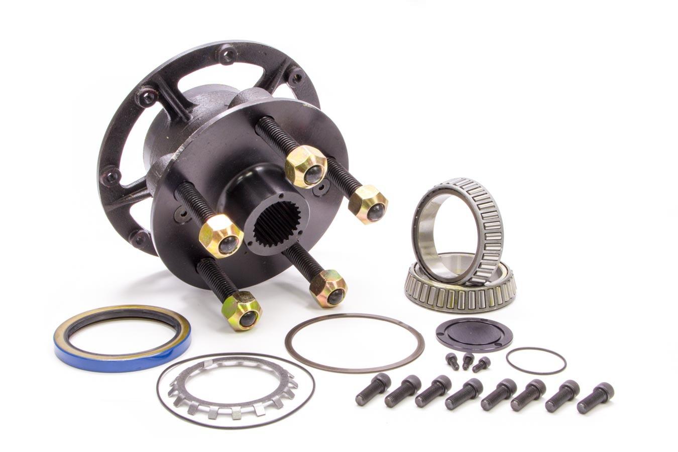 Diversified Machine CRC-2000 Wheel Hub, Rear, 5 x 5.00 Wheel, Bearings / Dust Cap / Hardware / Wheel Studs Included, Seals, Steel, Black, Kit