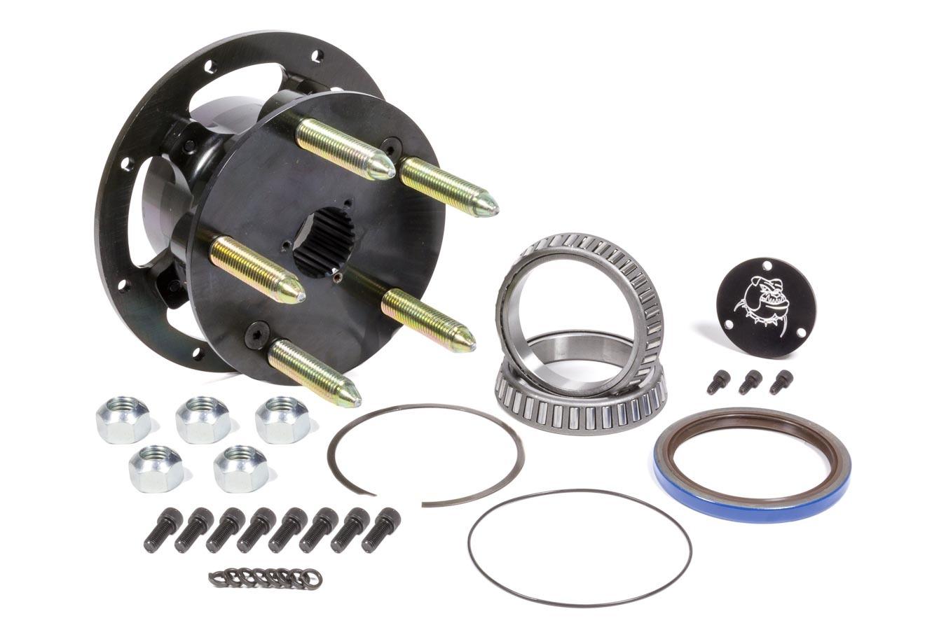 Diversified Machine CRC-2050 Wheel Hub, Rear, 5 x 5.00 Wheel, Bearings / Dust Cap / Hardware / Wheel Studs Included, Seals, Steel, Black, 2-7/8 in Smart Tube, Kit