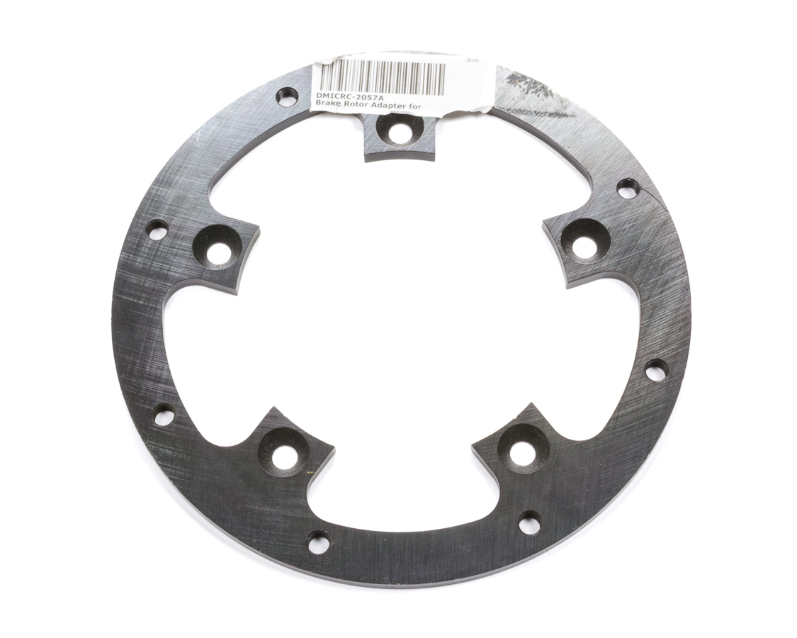 Diversified Machine CRC-2057A Brake Rotor Adapter, 5 x 5.00 in Bolt Pattern to 8 x 7.000 in Rotor Bolt Pattern, Steel, Black Paint, Each