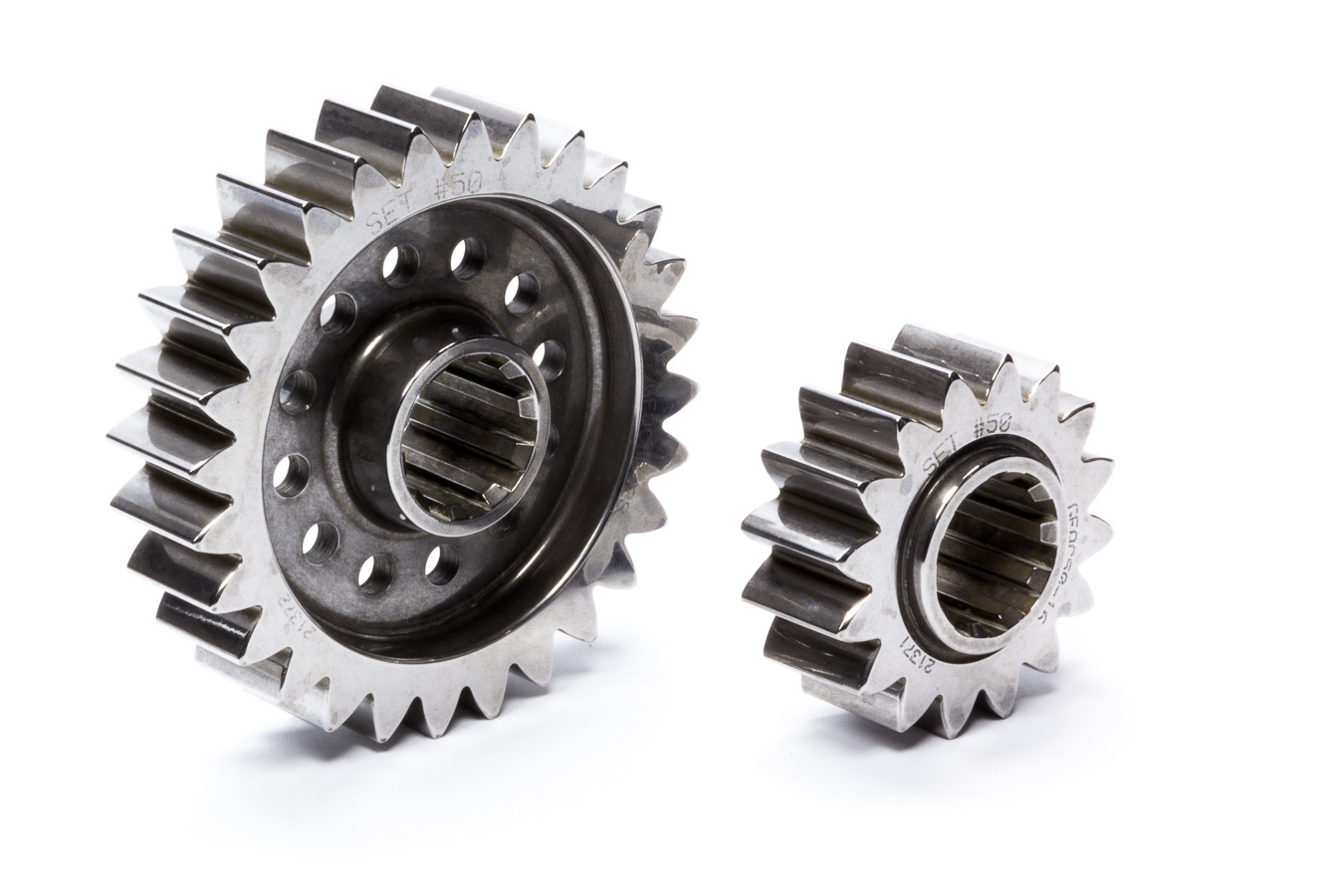 Diversified Machine FFQCG-50 Quick Change Gear Set, Friction Fighter, Set 50, 10 Spline, 4.12 Ratios 7.21 / 2.35, 4.86 Ratios 8.50 / 2.78, Steel, Each