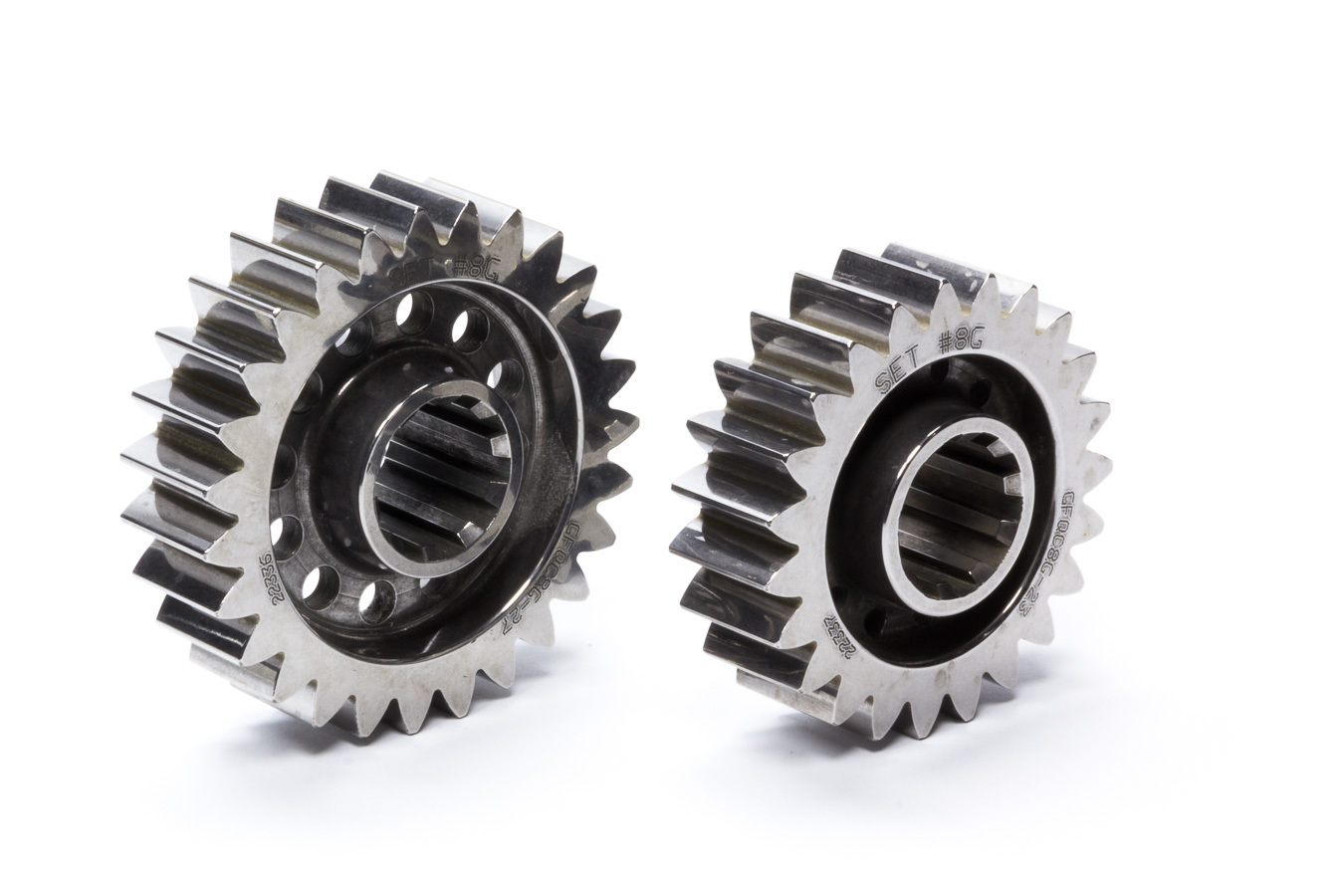 Diversified Machine FFQCG-8G Quick Change Gear Set, Friction Fighter, Set 8G, 10 Spline, 4.12 Ratios 4.84 / 3.51, 4.86 Ratios 5.71 / 4.14, Steel, Each