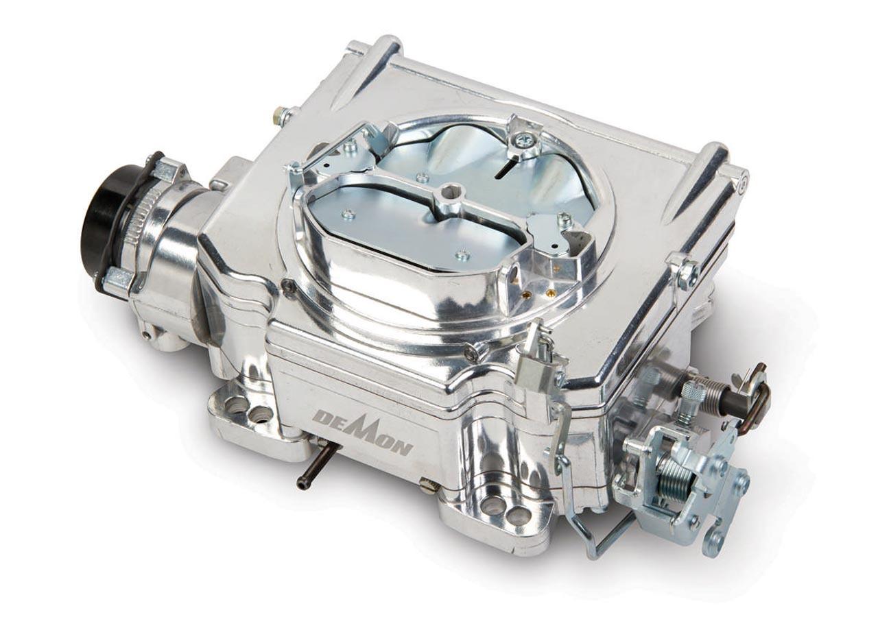 Demon Carburetion 1900 Carburetor, Street Demon, 4-Barrel, 625 CFM, Spread / Square Bore, Electric Choke, Vacuum Secondary, Single Inlet, Burnished, Each