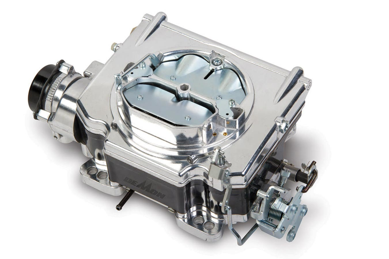 Demon Carburetion 1901 Carburetor, Street Demon, 4-Barrel, 625 CFM, Spread / Square Bore, Electric Choke, Vacuum Secondary, Single Inlet, Black / Burnished, Each
