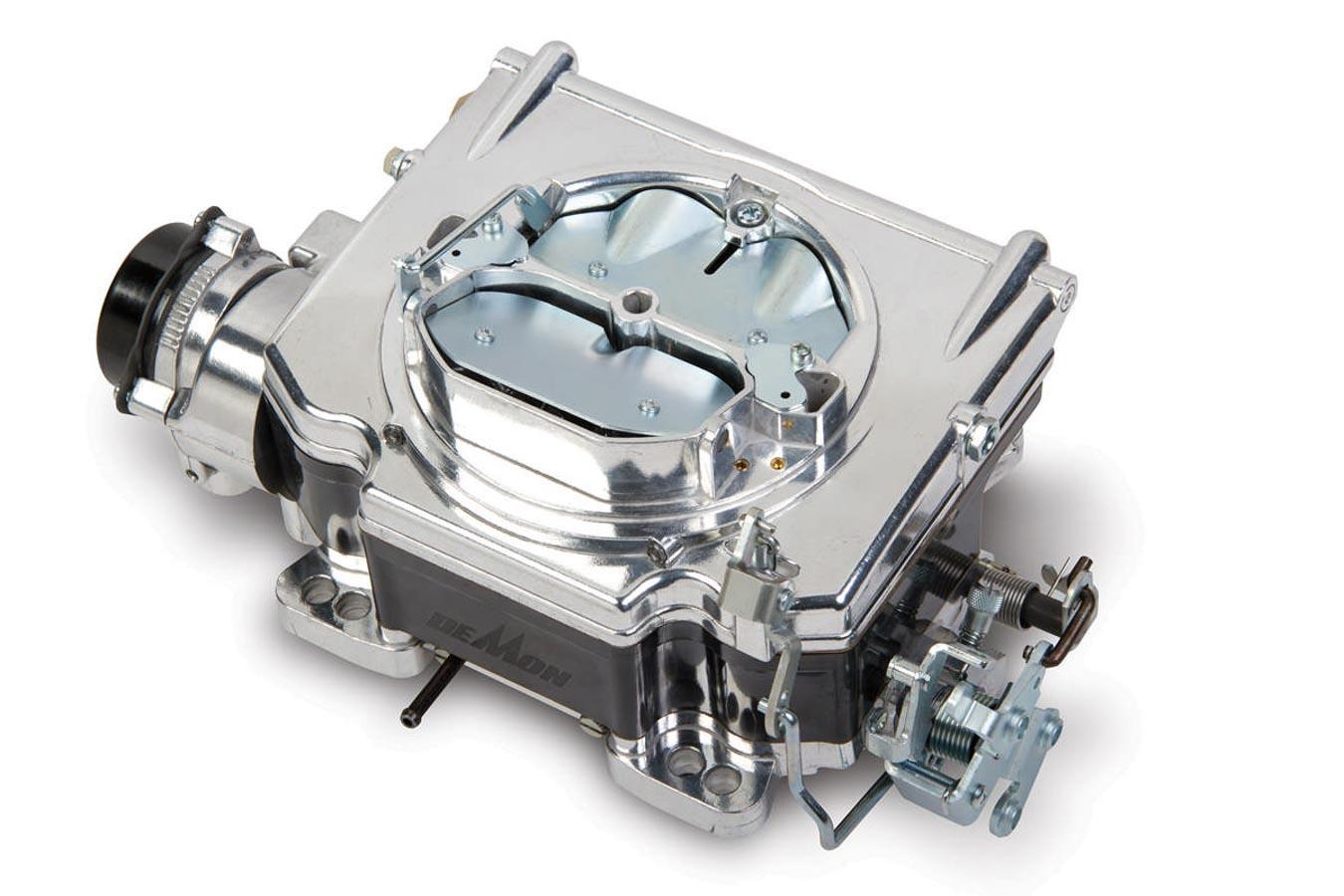 Demon Carburetion 1904 Carburetor, Street Demon, 4-Barrel, 750 CFM, Spread / Square Bore, Electric Choke, Vacuum Secondary, Single Inlet, Black / Burnished, Each