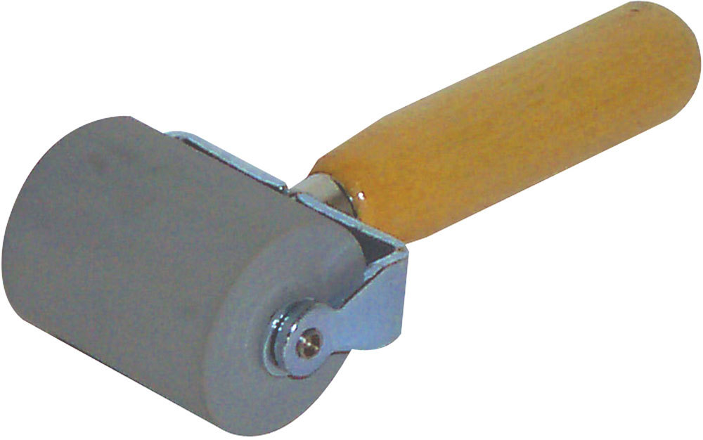 Dynamat 10007 Installation Roller Tool, Professional, Wood Grip, Rubber Roller, Sound Barrier Materials, Each