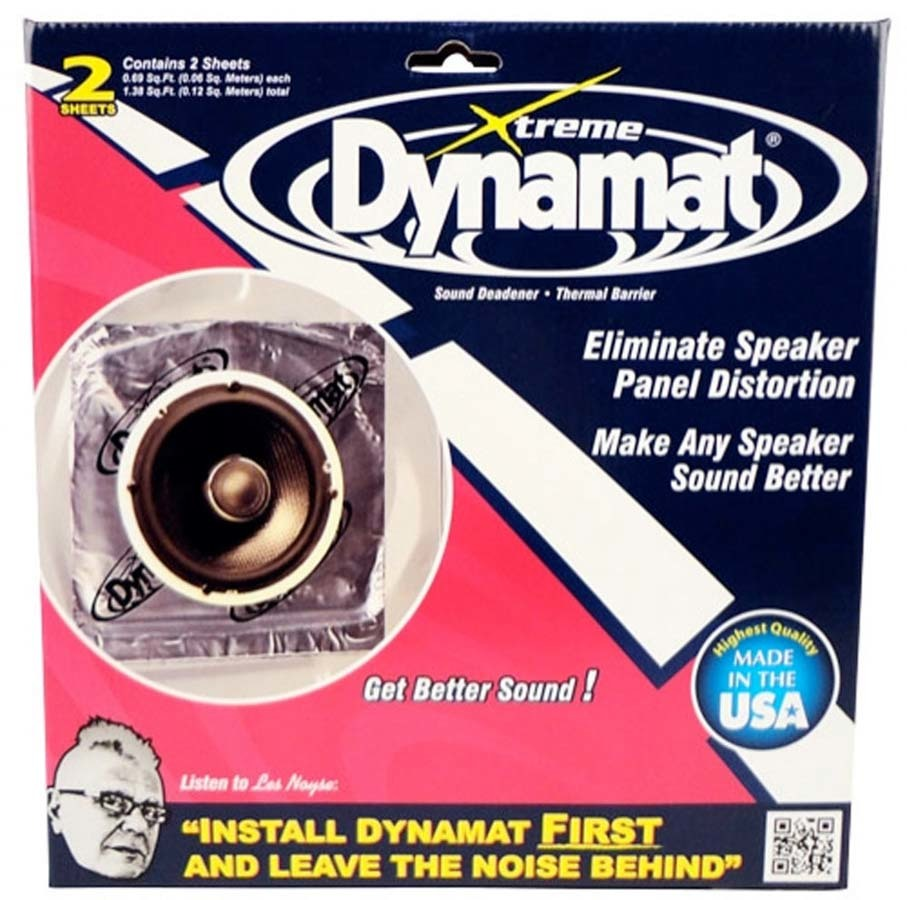 Dynamat 10415 Sound Barrier, Extreme, 10 x 10 in Sheet, 0.060 in Thick, Self Adhesive Backing, Aluminum / Rubber, Silver, Pair