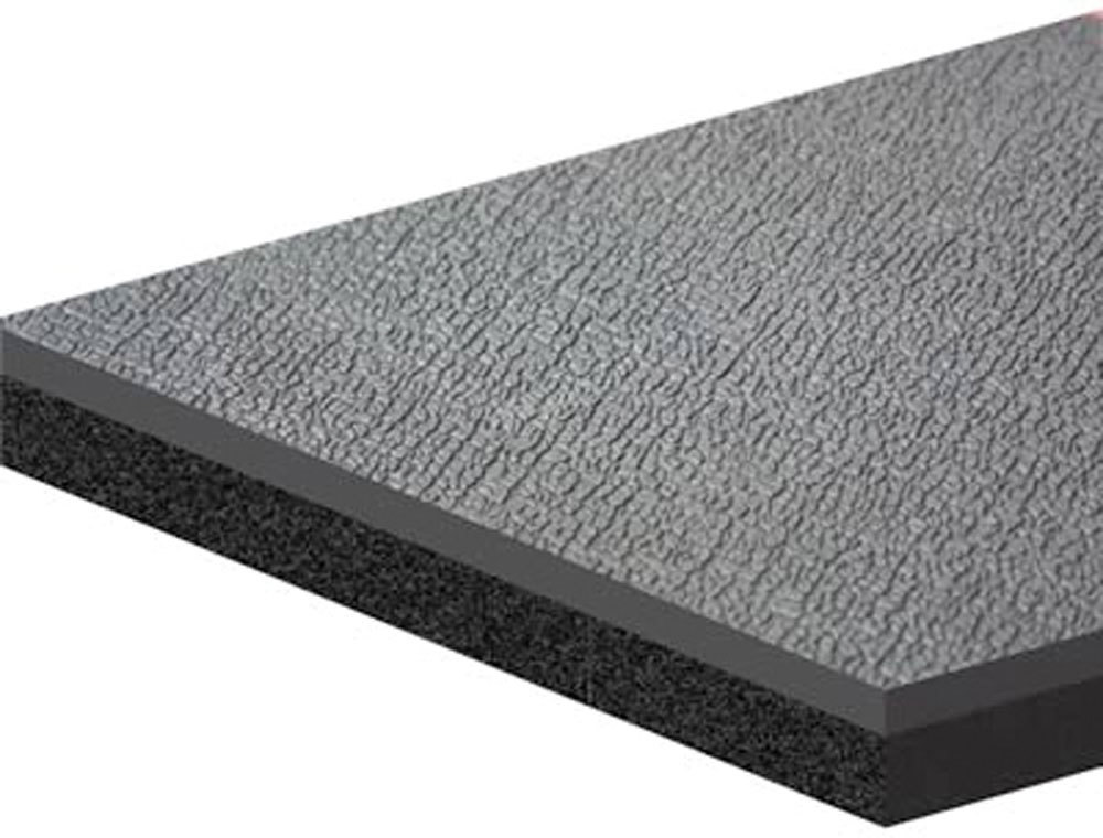 Dynamat 21203 Heat and Sound Barrier, Dynadeck, 36 x 54 in Sheet, 0.452 in Thick, Carpet, Black, Each