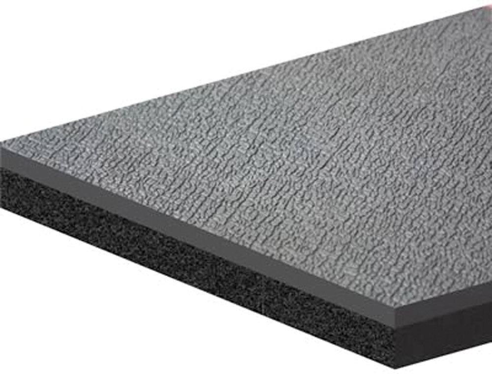 Dynamat 21206 Heat and Sound Barrier, Dynadeck, 72 x 54 in Sheet, 0.452 in Thick, Carpet, Black, Each