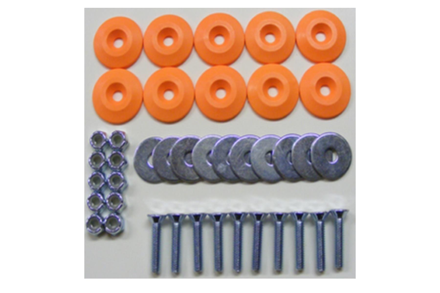 Body Bolt Kit Orange 10 Pack