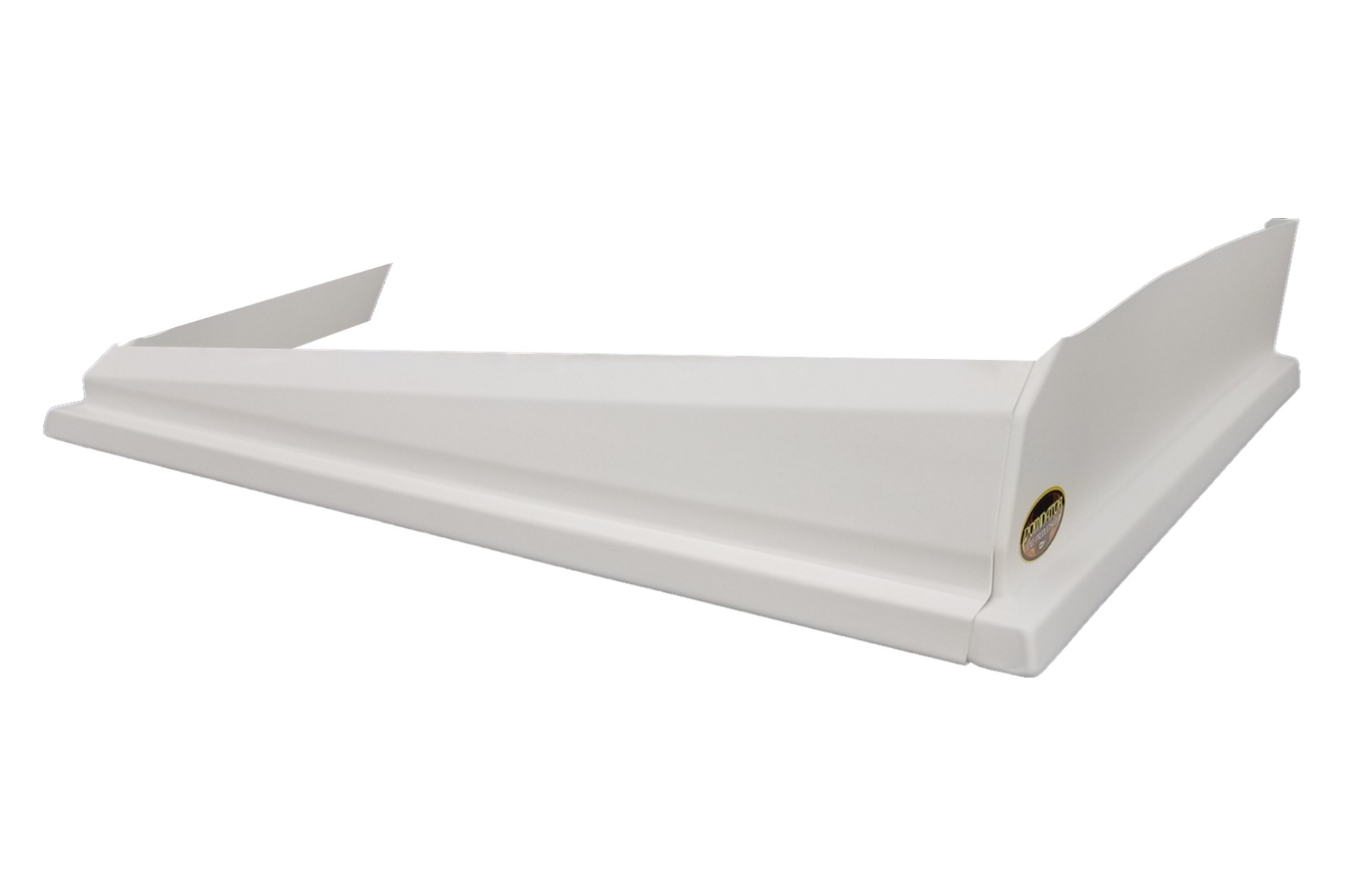Dominator Racing Products 408-WH Air Valance, 3 Piece, Molded Plastic, White, Dirt Modified, Each