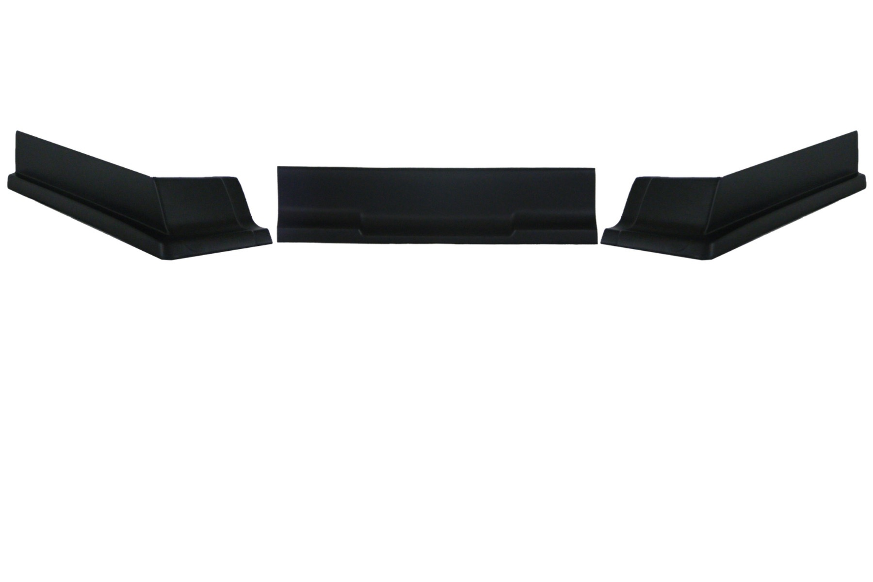Dominator Racing Products 409-BK Air Valance, 3 Piece, Molded Plastic, Black, Dirt Modified, Each