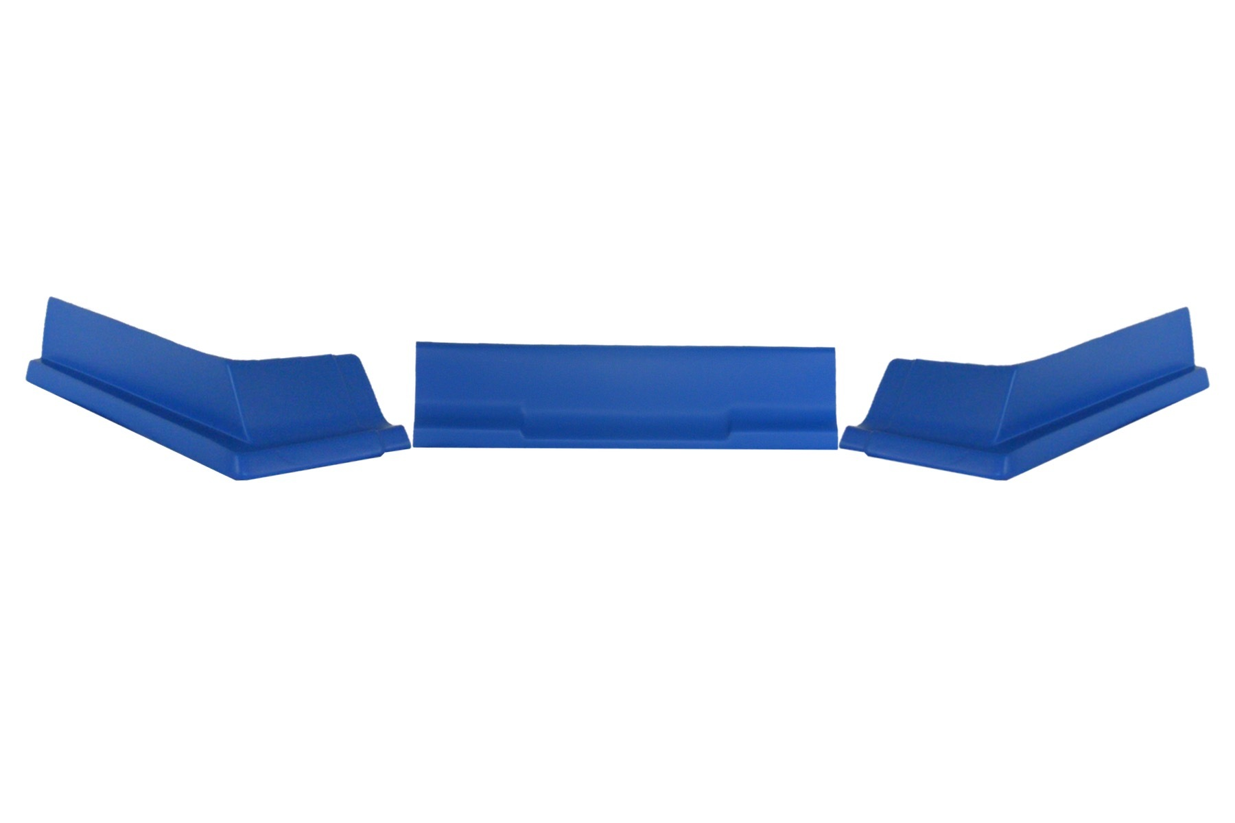 Dominator Racing Products 409-BL Air Valance, 3 Piece, Molded Plastic, Blue, Dirt Modified, Each