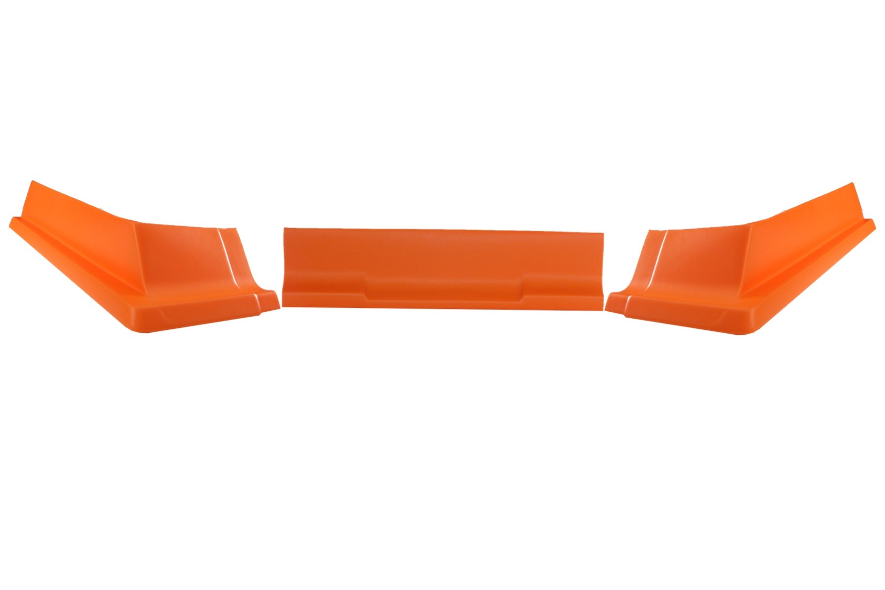 Dominator Racing Products 409-OR Air Valance, 3 Piece, Molded Plastic, Orange, Dirt Modified, Each
