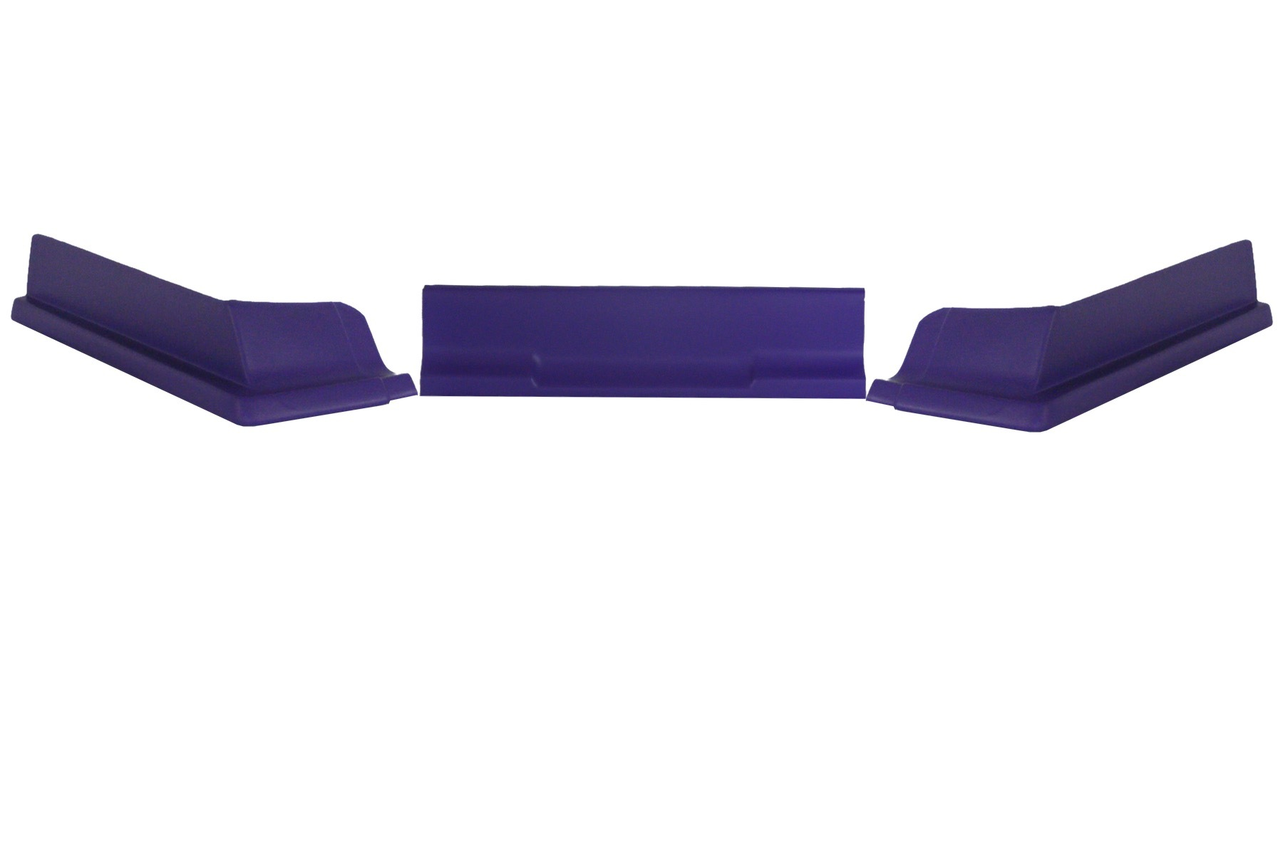 Dominator Racing Products 409-PU Air Valance, 3 Piece, Molded Plastic, Purple, Dirt Modified, Each