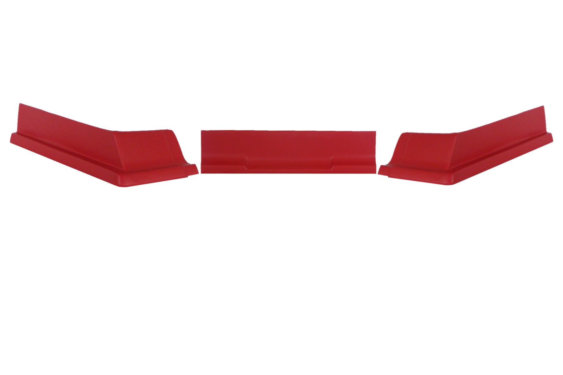 Dominator Racing Products 409-RD Air Valance, 3 Piece, Molded Plastic, Red, Dirt Modified, Each