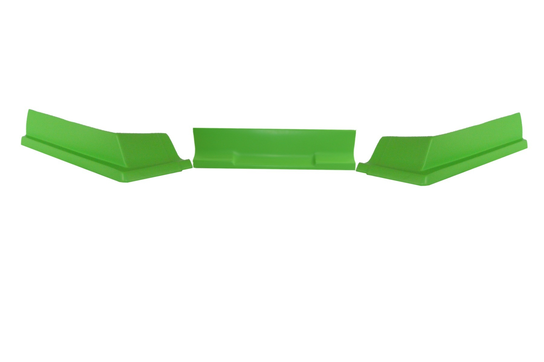 Dominator Racing Products 409-XG Air Valance, 3 Piece, Molded Plastic, Xtreme Green, Dirt Modified, Each