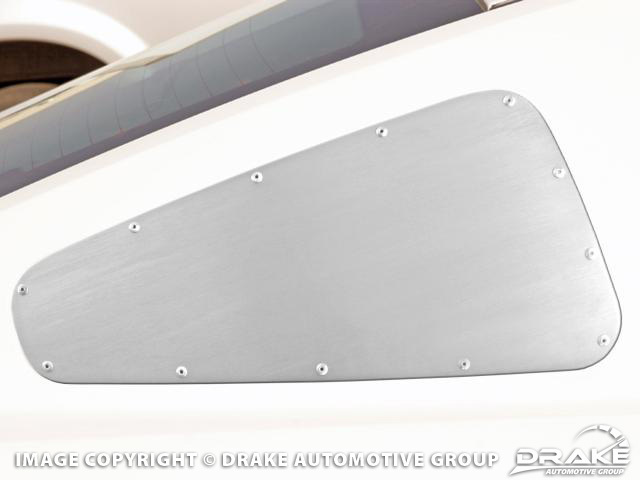 Quarter Window Cover Satin 10-13 Mustang