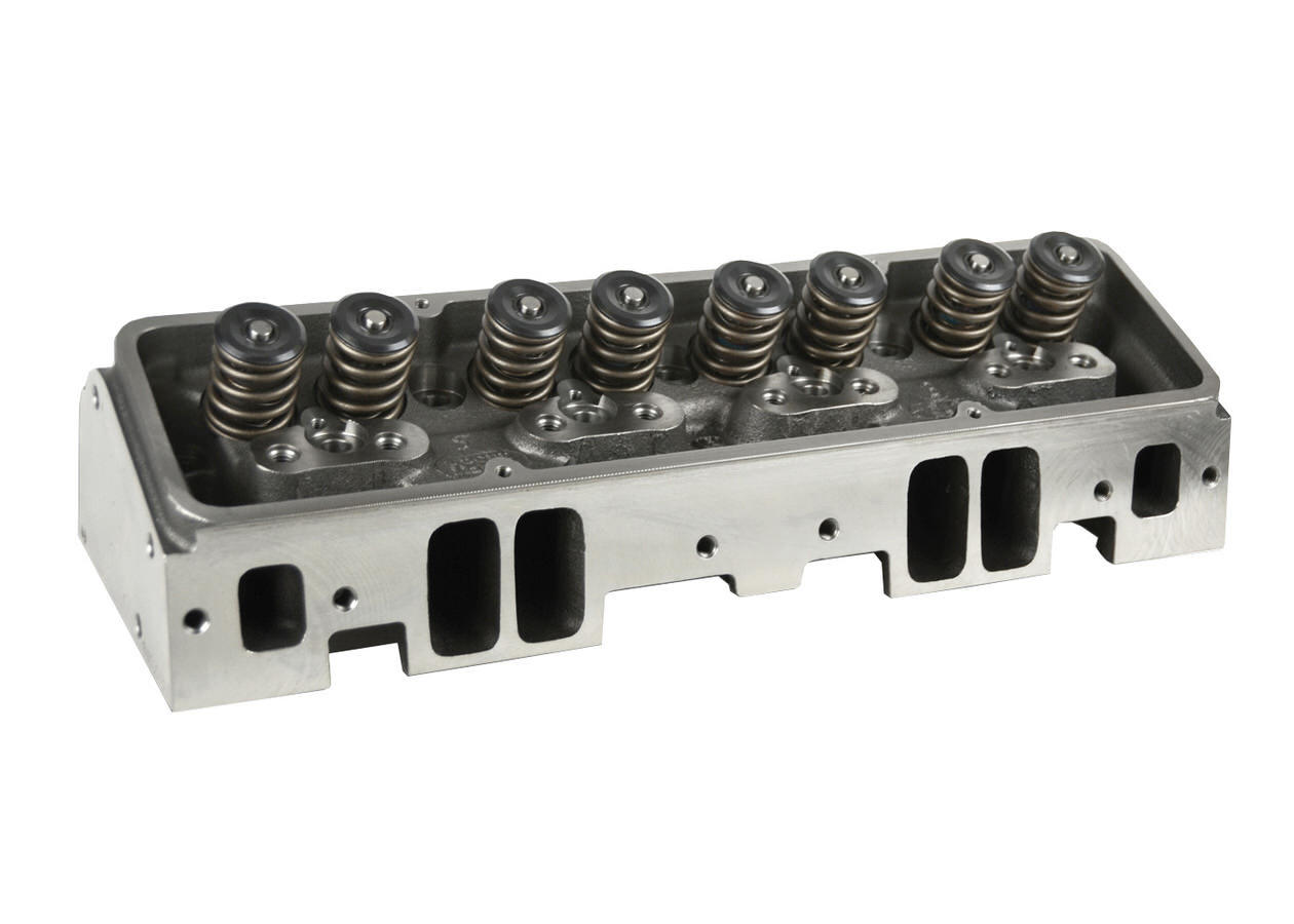 Dart 10311112P Cylinder Head, Iron Eagle, Assembled, 2.020 / 1.600 in Valves, 200 cc Intake, 64 cc Chamber, 1.437 in Springs, Iron, Small Block Chevy, Each