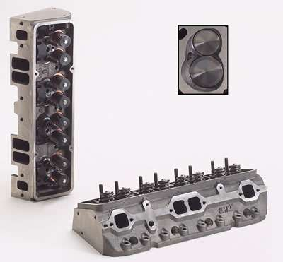 Dart 10321111P Cylinder Head, Iron Eagle 200, Assembled, 2.020 / 1.600 in Valves, 200 cc Intake, 64 cc Chamber, 1.250 in Springs, Iron, Small Block Chevy, Each
